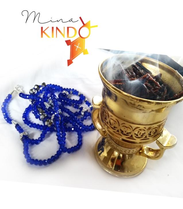 Waist beads cobalt 4