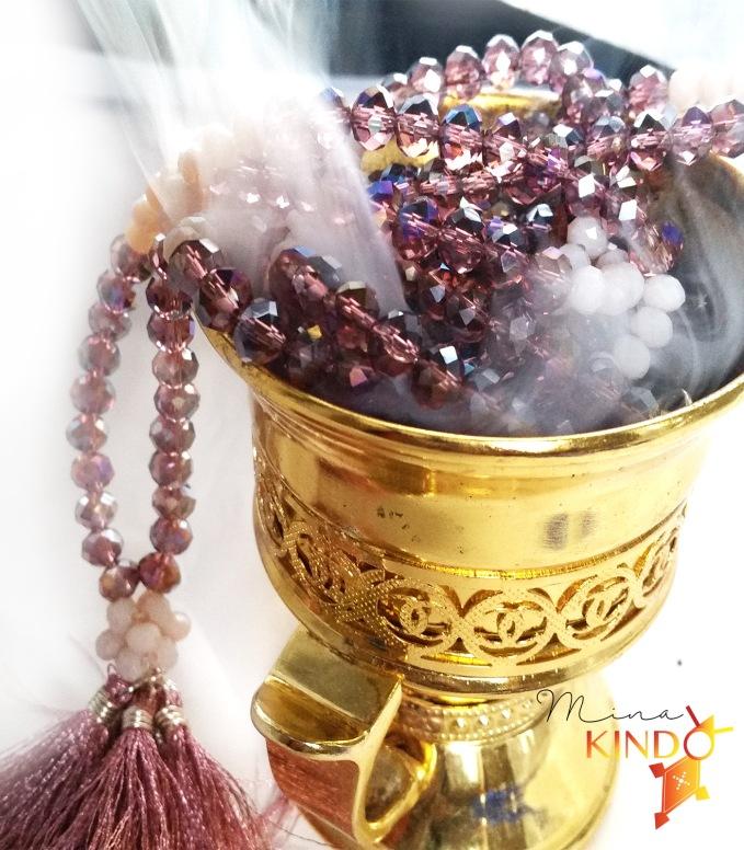 Waist beads purple